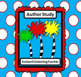 Instant Listening Center - Author Study -  QR codes - Centers