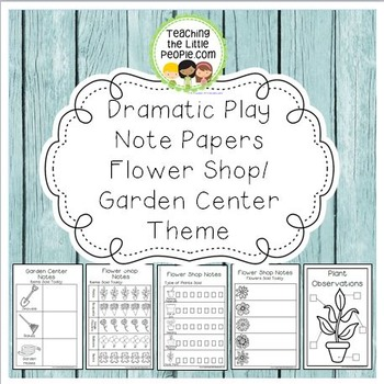 Dramatic Play Forms for Writing - Flower Shop/Garden Center Theme Image