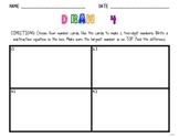 Draw 4 Math Warm up/Activity (Common Core  - Math 2.OA.2)