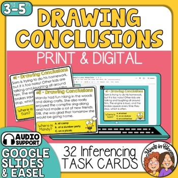 Drawing Conclusions (Inference) Task Cards