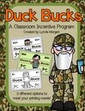 Duck Bucks: A Classroom Incentive Program