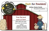 Duck for President Guided Reading Printable