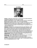 E.B. White life story review article questions facts activ