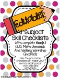 EDITABLE All-Skills Grading and Record Keeping Checklists