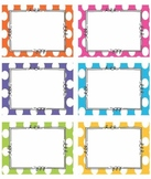 EDITABLE BRIGHT Polka Dot Tags/ Label- Classroom labels
