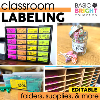 EDITABLE Labels for Notebooks, Folders, and Journals