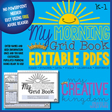 EDITABLE PDF K-1 Grid book - Morning Workbook Series