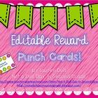 EDITABLE Reward Punch Cards!