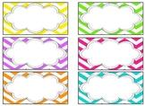 EDITABLE Teacher Toolbox Labels- Bright Chevron