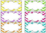 EDITABLE Teacher Toolbox Labels- Bright Chevron