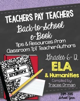 ELA Back to School Free eBook Grades 6-12