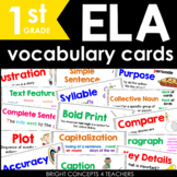 ELA Common Core Vocabulary Cards-First Grade