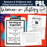 ELA Project Based Learning: Women in History - Supporting