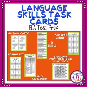 ELA Test Prep - Language Skills Task Cards - TCAP Aligned
