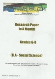 ELA/Social Science Research Paper In A Month Project