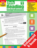 Daily Reading Comprehension: Grade 2 (Enhanced eBook)