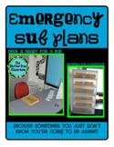 EMERGENCY SUB PLANS for ELEMENTARY TEACHERS