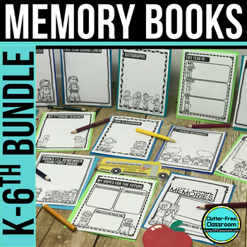 END OF SCHOOL YEAR ACTIVITIES & MEMORY BOOK no prep printables template {K-6}