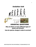 ESL Human Evolution Unit Guide and Vocabulary