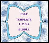 EYLF Template 1,2,3 & 4 CD Bundle - free postage within Australia