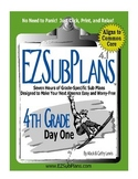 EZSubPlans: Emergency Absence Plans, Fourth Grade, Day 1