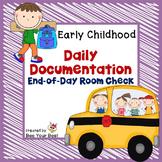 **FREEBIE** Preschool Organization - End of Day Room Check