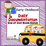 **FREEBIE** Preschool Organization - End of Day Room Check