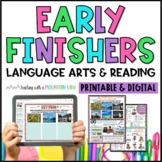 Early Finisher Task Cards for Language Arts and Reading