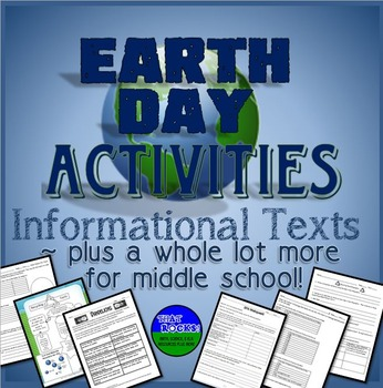 Earth Day Activities!  Informational Texts Plus More for Middle School