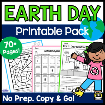 Earth Day Activities - Copy & Go Earth Day Math & Literacy Printable Pack