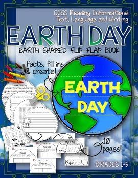 Earth Shaped Flip Flap Book: Celebrate Earth Day!