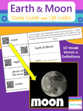 Earth and Moon Study Guide with QR Codes {Links to Photos}