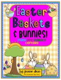 Easter Baskets and Bunnies Math and Literacy Centers