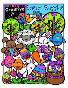 Easter Buddies {Creative Clips Digital Clipart}