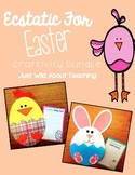 Easter Bundle! { bunny & chick crafts with writing printables }