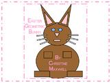 Easter Bunny Geometric Shape Rabbit