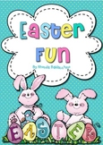 Easter Bunny Glyph and Fun Activities for Easter