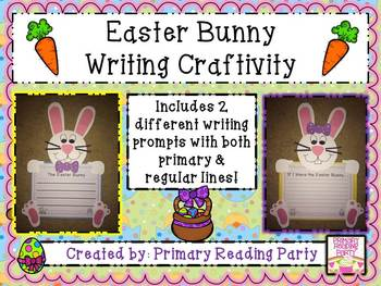 Easter Bunny Writing Craftivity