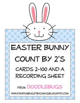 Easter Count by 2's Cards 2-100 Math Center