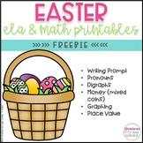 FREE Easter ELA and Math Printables