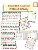 Easter Egg Hunt with Graphing Activity Kindergarten Level