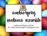 Easter Spring Sentence Scramble Writing Literacy Center