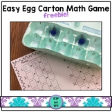 Easy Egg Carton Math Game FREEBIE!