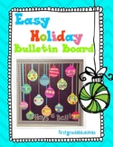 Easy Holiday Bulletin Board Ornament Craftivity