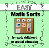 Easy Math Sorts for Early Childhood or Special Education