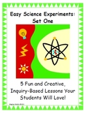Easy Science Experiments:  Set  One