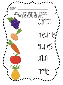 Eat your Veggies! A Fruit and Vegetable Unit