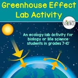 Ecology Lab:  The Greenhouse Effect.  Modeling and Graphing.