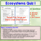 Ecology Quiz: Energy Flow and the Recycling of Matter (Eco