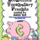 Economics Vocabulary Flapbook Freebie